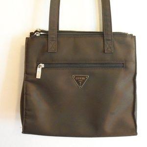 Nylon brown shoulder bag (#EV637)